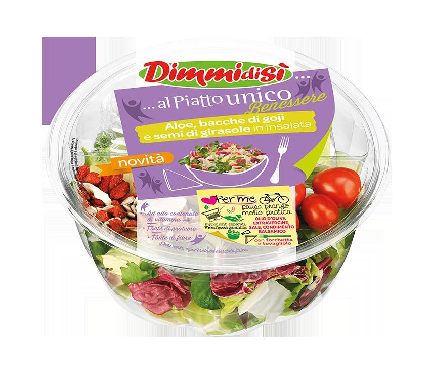 L'aloe è usato anche in insalate di quarta gamma mix benessere