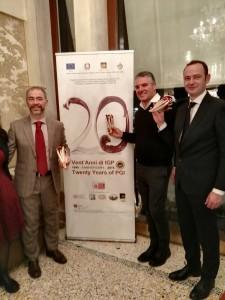 Da sinistra Andrea Tosato vice-presidente, Paolo Manzan, presidente e Denis Susanna, direttore del Consorzio di tutela del Radicchio Rosso Treviso Igp