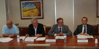 Roberto Cera, vice presidente, Davide Vernocchi, presidente, e Gabriele Chiesa, direttore generale di Apo Conerpo
