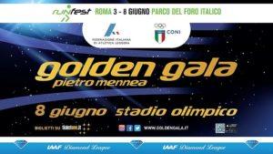 Golden Gala Atletica 8 giugno Roma