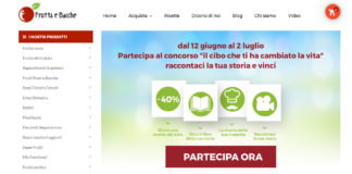 home page dell'eCommerce fruttaebacche.it