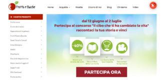 home page dell'eCommerce fruttaebacche.it