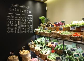 Il negozio L'Orto di Brera in Via San Carpoforo a Milano