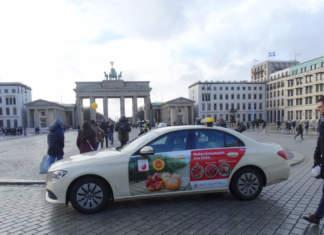 La Melagrana Mollar de Elche Dop sui taxi di Berlino