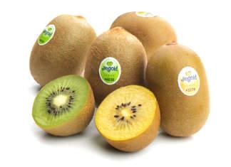Il kiwi gialo ha gusto dolce che piace ai bambini., ed è molto ricco di fibra