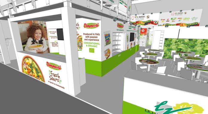 Lo stand della Linea Verde a Fruit Logistica, la fiera dell'ortofrutta che si svolgerà a Berlino