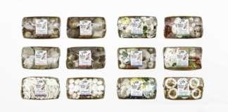 La linea dei funghi freschi confezionati Sapori del mio Orto comprende 12 referenze