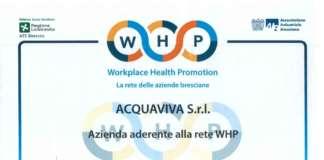 Acquaviva è entrata nella rete WHP delle imprese bresciane impegnate a migliorare la salute e il benessere nei luoghi di occupazione