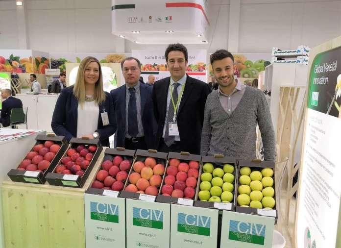 LLo stand di Civ alla scorsa edizione di Fruit Logistica, a Berlino