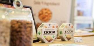 Cicioni, l'innovativo prodotto capostipite della linea dei fermentini. Il suo gusto è simile al formaggio, pur essendo vegano