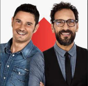 """I conduttori del programma """"Fede"""" (Federico Quaranta) e """"Tinto"""" (Nicola Prudente)"""