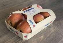 Le mele a marchio Kiku puntano anche sulla sostenibilità con un packaging biodegradabile e compostabile
