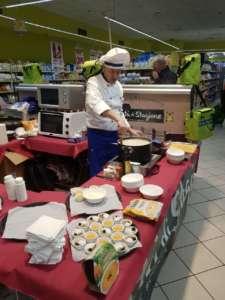 Gli showcooking e le degustazione dei prodotti Bontà di Stagione presso il punto vendita Todis