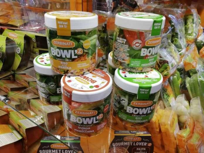 Le nuove Bowl'Z Zerbinati, disponibili in tre varianti: Riso alla Mediterranea, Quinoa alla Marocchina e Riso all'Asiatica