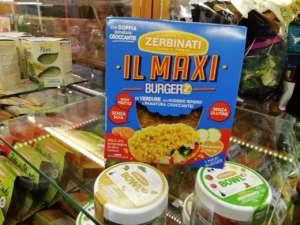 Il Maxi Burger'Z è preparato con sole verdure fresche e olio extravergine di oliva italiano . Ed è senza soia