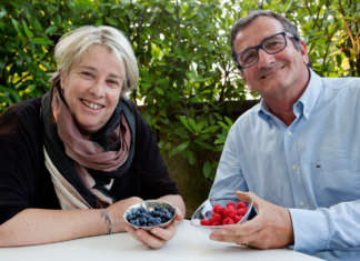 I protagonisti di Full, innovazione che combatte lo spreco alimentare, la professoressa Cristiana Peano e Domenico Paschetta, presidente di Ortofruit italia