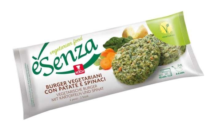 I burger surgelati veg di Koch con patate e spinaci: un mercato in forte crescita
