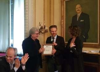 La premiazione di Fruttagel a Milano, in occasione della presentazione del rapporto 2018 Io sono cultura. L'Italia della qualità e della bellezza sfida la crisi
