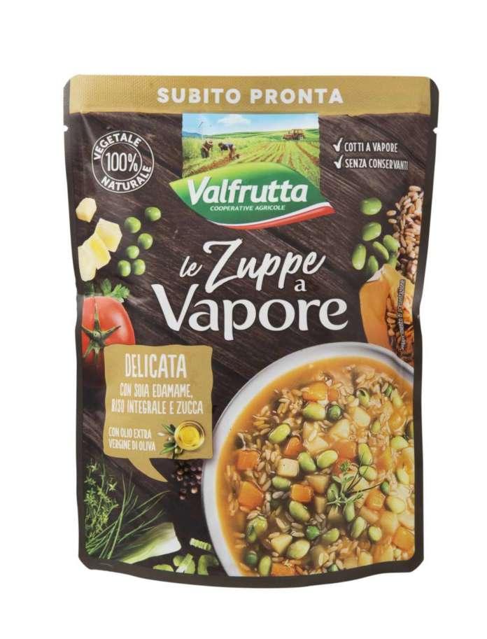 Le nuove zuppe al vapore di Valfrutta puntano a un target giovane che cerca piatti pronti, salutistici, con richiami alla cucina etnica