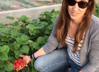 Lucilla Danesi, responsabile del settore fragola per Geoplant Vivai. Con il tecnico commerciale Michele Montanari era presente alla kermesse