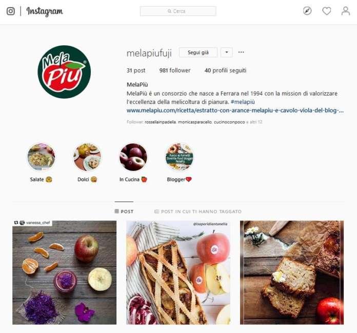 Il consorzio ferrarese Melapiù ha lanciato una forte comunicazione sui social, da Facebook a Instagram