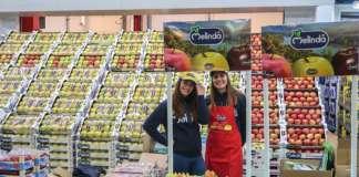 """Iniziativa trade al mercato di Malaga. I gestori delle """"fruterías"""" diventano gli ambasciatori della mela dal Bollino Blu"""