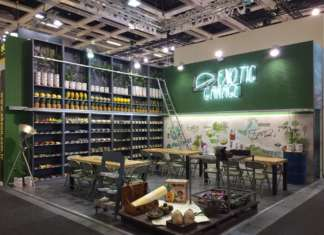 Lo stand allestito da Mc Garlet a Fruit Logistica 2019, a Berlino