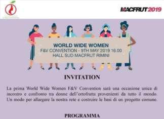World Wide Women Convention è il primo incontro mondiale organizzato dall'associazione italiana Donne dell'Ortofrutta