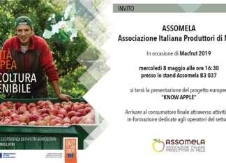 Assomela, l'associazione italiana produttori di mele lancia a Macfrut la campagna di informazione Knowing european apple