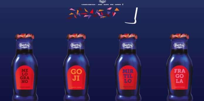 La linea frutti rossi di Derby Blue: l'immagine della frutta è stata tolta dall'etichetta, una scelta unconventional