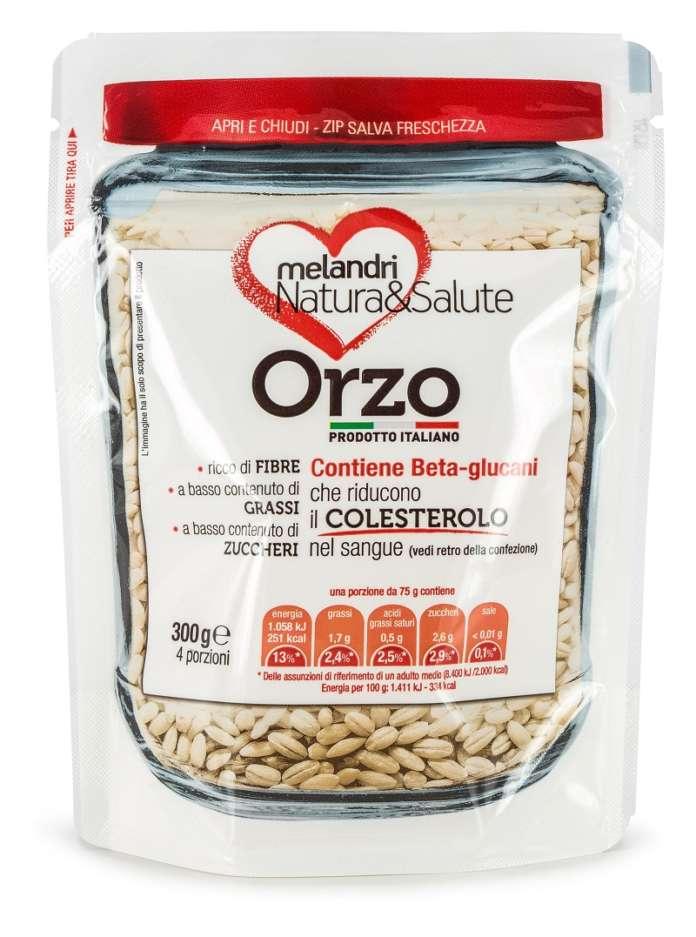 L'Orzo Natura&Salute di Melandri Gaudenzio è un prodotto ad alto contenuto di fibre, in particolare i beta-glucani