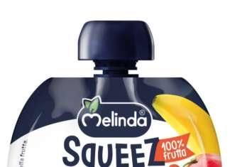 L'innovativo packaging di Melinda Squeez di Chini, la merenda salutare