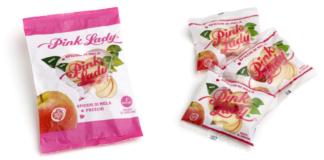 Pink Lady spicchi di mela sono realizzati in partnership con Vog Products, proposti in monoporzione e in multipack