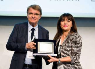 Il momento della premiazione nella giornata di chiusura di Macfrut 2019, la kermesse dell'ortofrutta che si è tenuta a Rimini