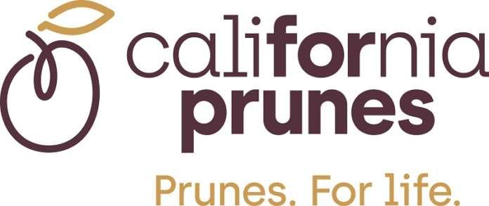 Il logo del nuovo brand, California Prunes, enfatizza i benefici nutrizionali delle prugne della California. E invita a un consumo quotidiano