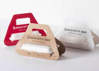 Il pack per i piatti da asporto Regusto è realizzato con materiale compostabile certificato