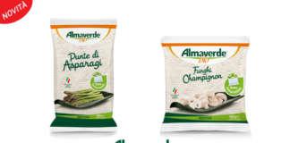 Si amplia la linea dei vegetali surgelati a marchio Almaverde Bio con i Funghi champignon e le Punte di asparagi