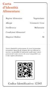 Un esempio di carta d'identità alimentare