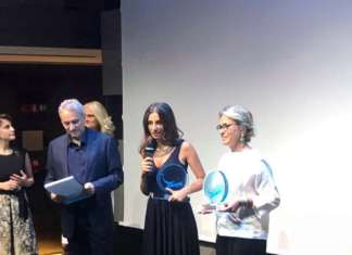 Marianna Palella, ceo e brand manager di Citrus- L'orto italiano, ritira il premio Positive Business Award 2019 per la categoria Sustainability