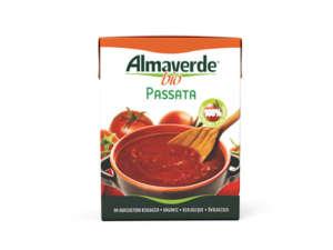 La Passata di pomodoro a marchio Almaverde bio, firmata Fruttagel