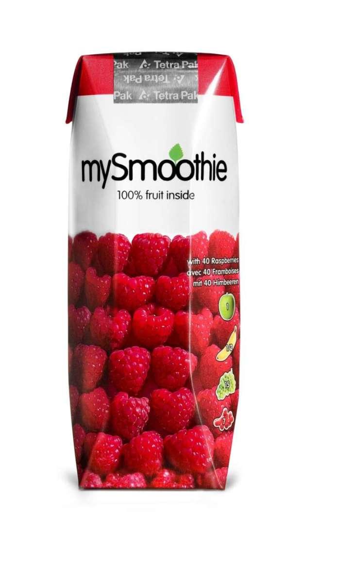 MySmoothie al Lampone: il marchio è distribuito da Eurofood, azienda specializzata nell'import di prodotti di qualità