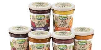 La nuova gamma Valfrutta 100% Veggie formata da sei ricette, con un mix di frutta e verdure