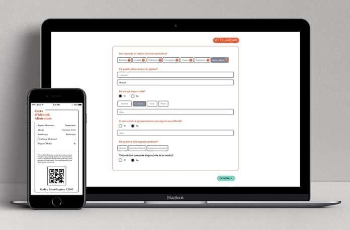 La carta d'identità alimentare è gratuita e si può condividere via mail con il ristorante o stampare