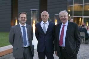 Il direttore generale Sant'Orsola, Matteo Bortolini, il presidente Silvio Bertoldi e il manager Fabio Rizzoli al primo convegno dei piccoli frutti