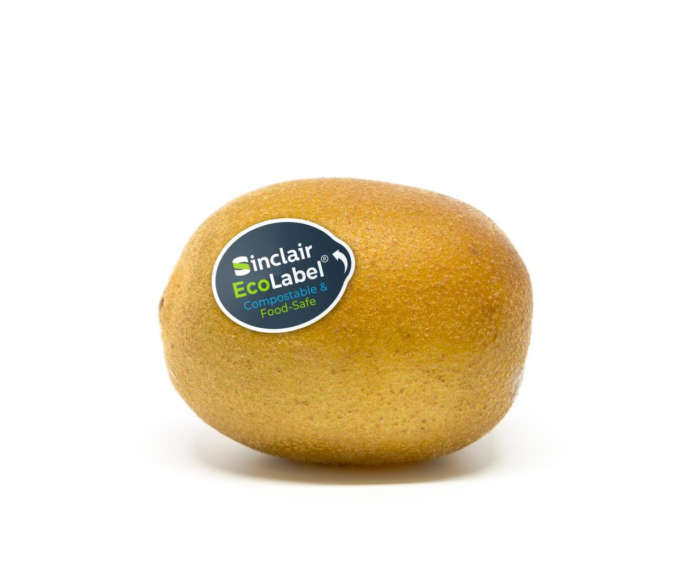 Dalla prossima stagione i kiwi Zespri bio avranno l'etichetta compostabile Sinclair EcoLabel certificata