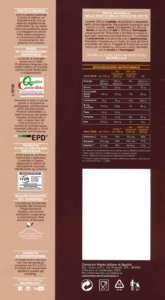 Il retro del packaging Selenella è ricco di informazioni per il consumatore