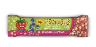 Le nuove Fruttelle Life si presentano con un packaging coloratissimo . Barrette che uniscono gusto e salute