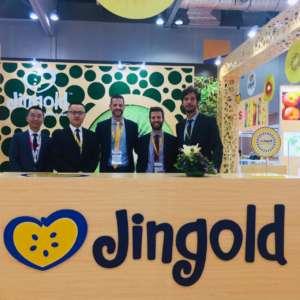 Il team Jingold allo stand di Asiafruit Logistica