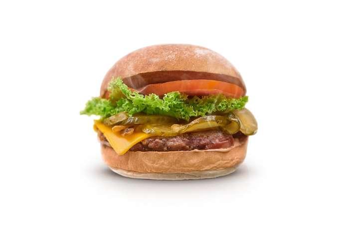 Uno dei burger in carta presso The Neat Burger, la nuova catena vegana che ha aperto recentemente a Londra