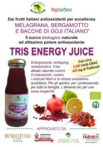 Tris Energy Juice è un succo nutraceutico